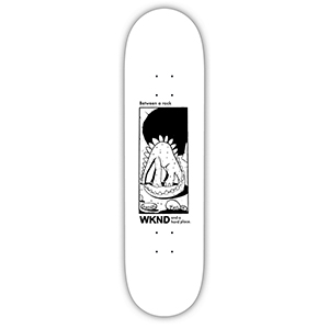 WKND Natural Selection Taylor Skateboard Deck White 8.5