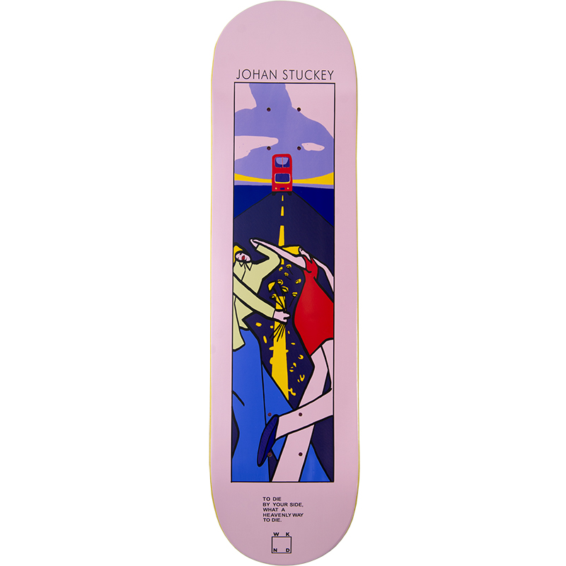 WKND Stuckey Lyric Skateboard Deck Pink 8.5