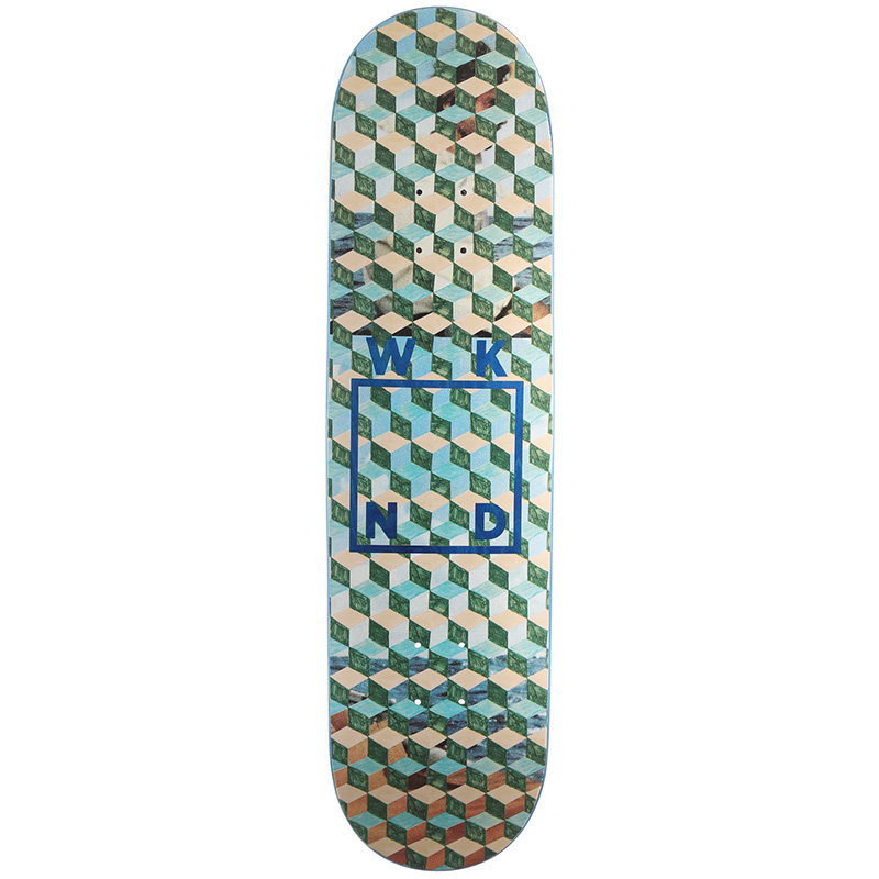WKND Tesselation Logo Skateboard Deck Blue Veneer 8.0