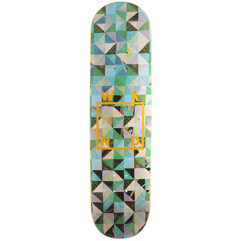 WKND Tesselation Logo Skateboard Deck Yellow Veneer 8.25