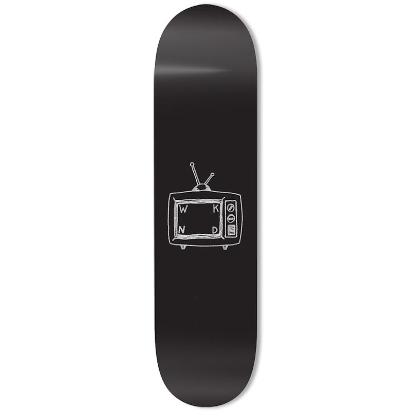 WKND TV Logo Skateboard Deck Black 8.6