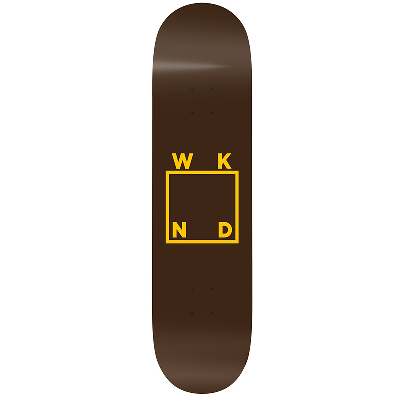 WKND UPS Logo Brown Skateboard Deck 8.38