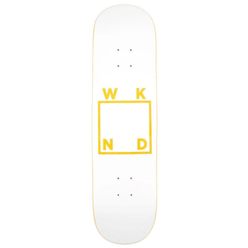WKND White Logo Skateboard Deck Assorted Veneers 8.0