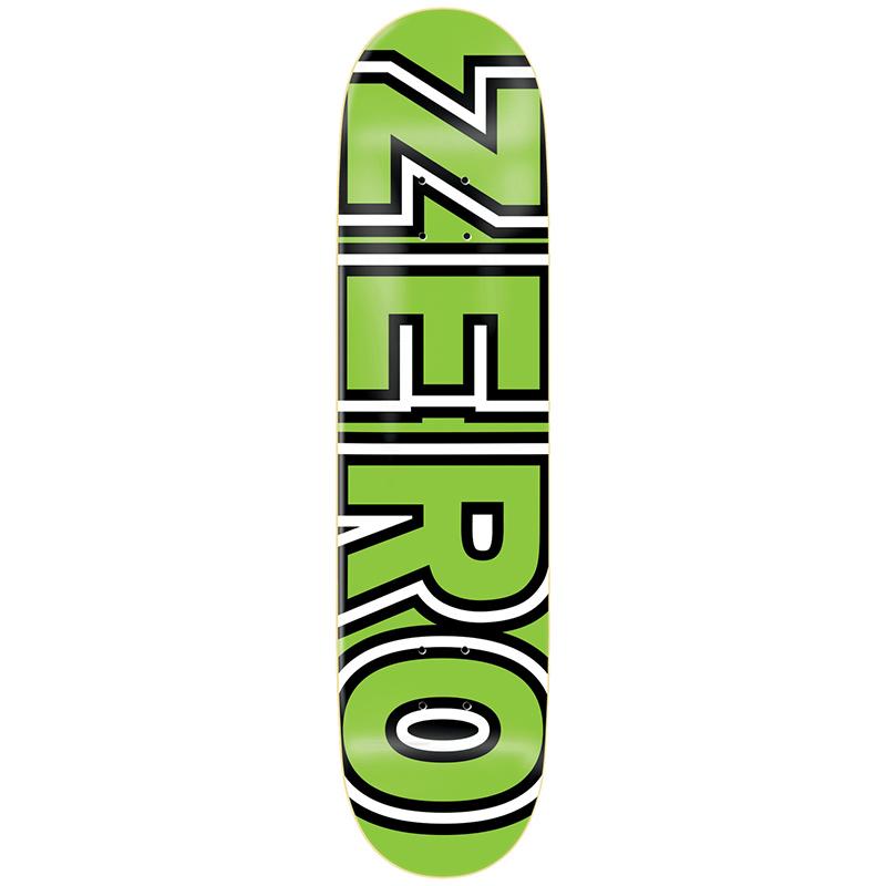 Zero Bold Neon Green R7 Skateboard Deck 8.375
