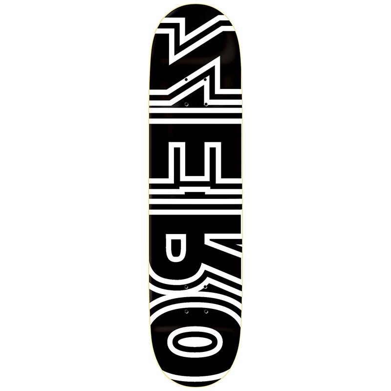 Zero Bold Reverse R7 Black/White Skateboard Deck 8.5