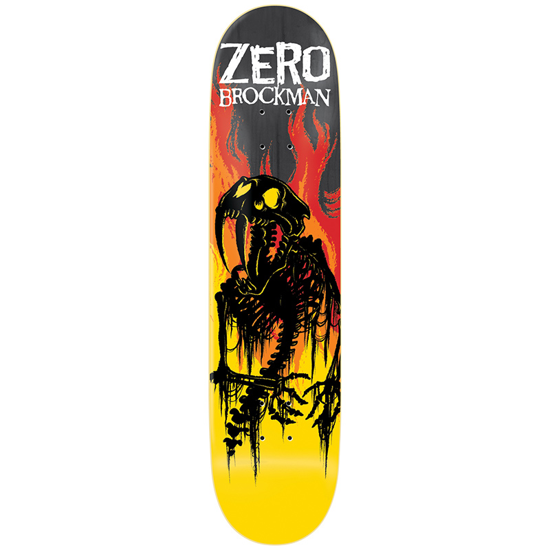 Zero Brockman From Hell Impact Light Skateboard Deck 8.5
