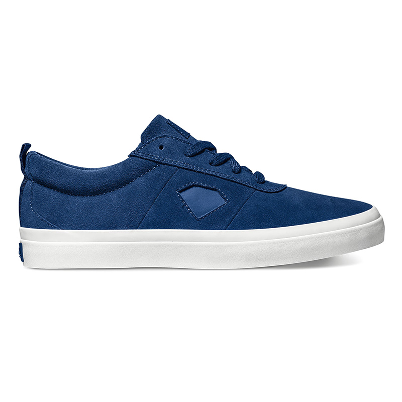 Diamond Icon Navy Suede