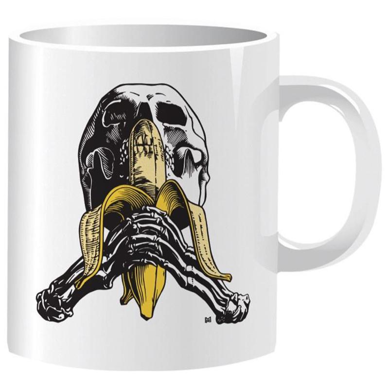 Blind Heritage Skull and Banana Coffee Mug