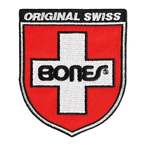 Bones Swiss Shield 3 Inch Patch