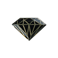 Diamond Metal Brilliant Pin Black