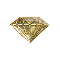 Diamond Metal Brilliant Pin Gold