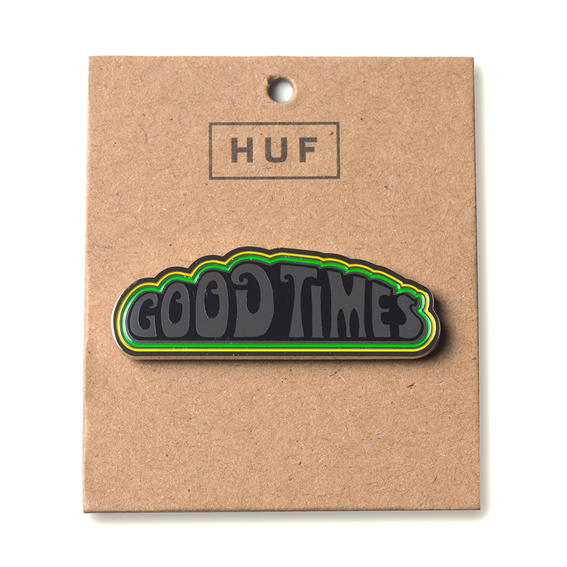 HUF Good Times Pin Silver