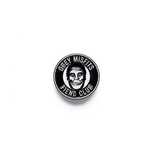 Obey X Misfits Fiend Club Pins Black