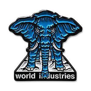 Prime World Industries Mike Vallely Elephant On Edge Enamel Pin
