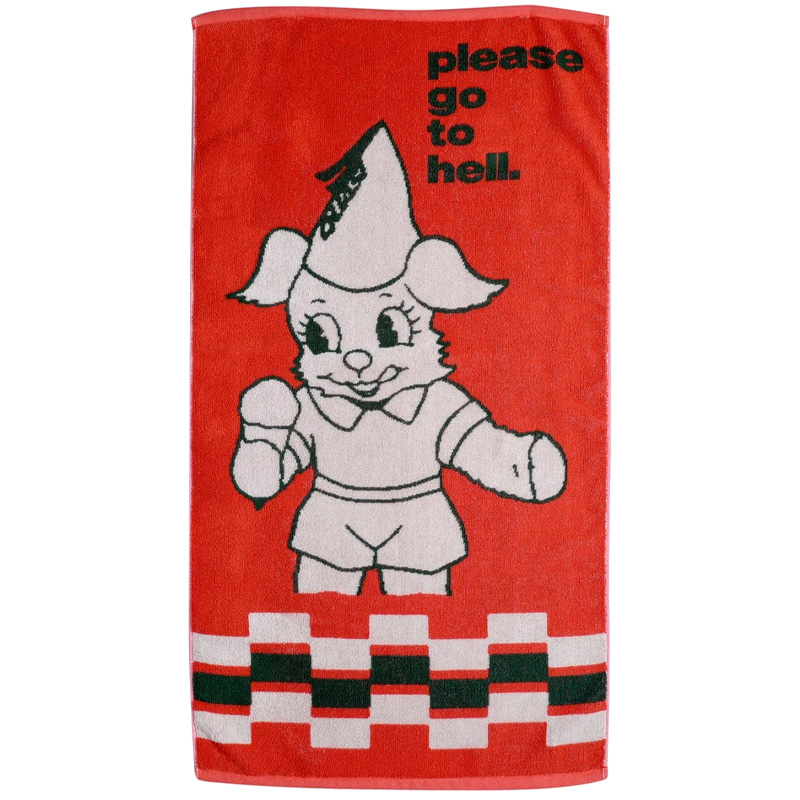 Quasi Go To Hell Towel Red