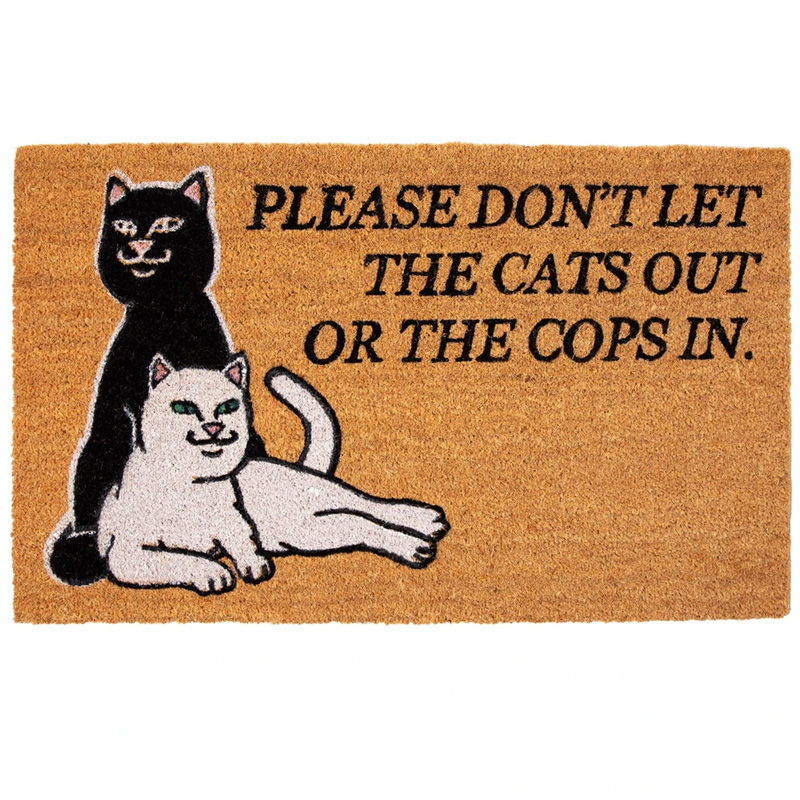 RIPNDIP Dont Let The Cops In Rug Brown
