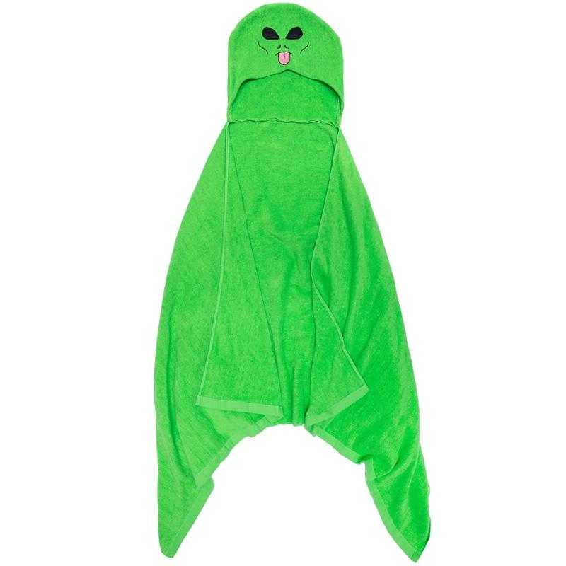 RIPNDIP Lord Alien Hooded Bath Towel Green