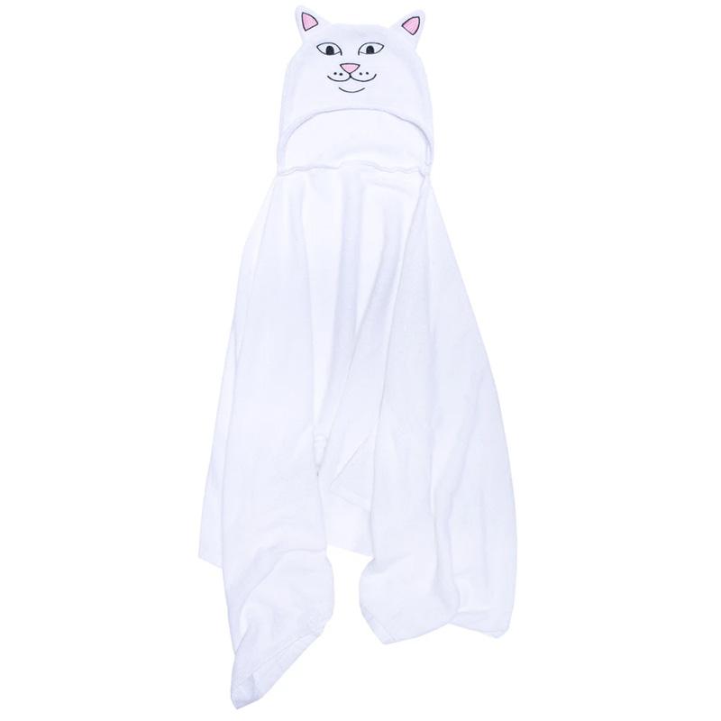 RIPNDIP Lord Nerm Hooded Bath Towel White