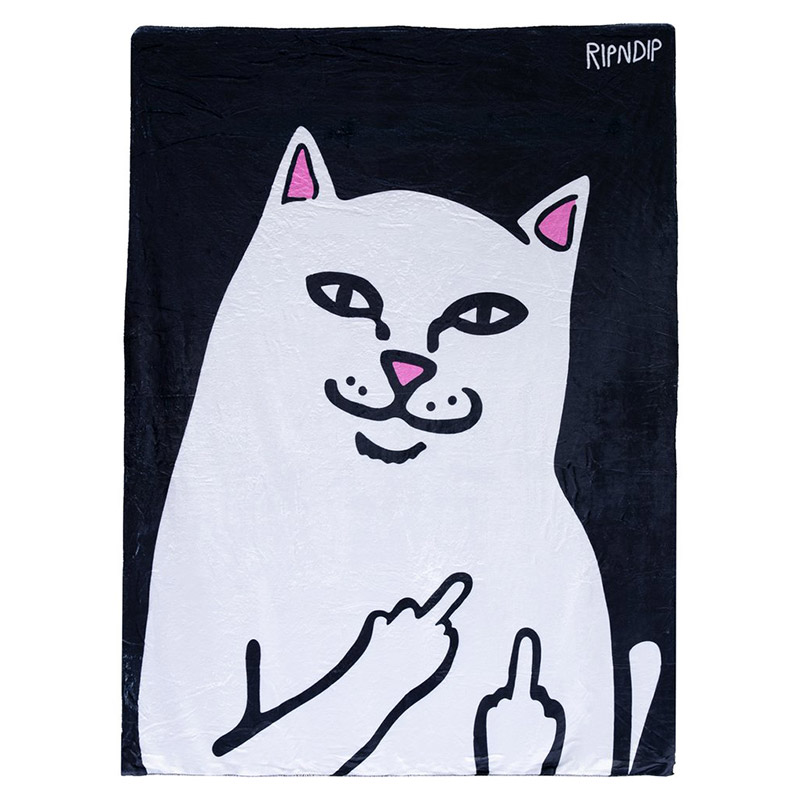 RIPNDIP Lord Nermal Throw Blanket Black