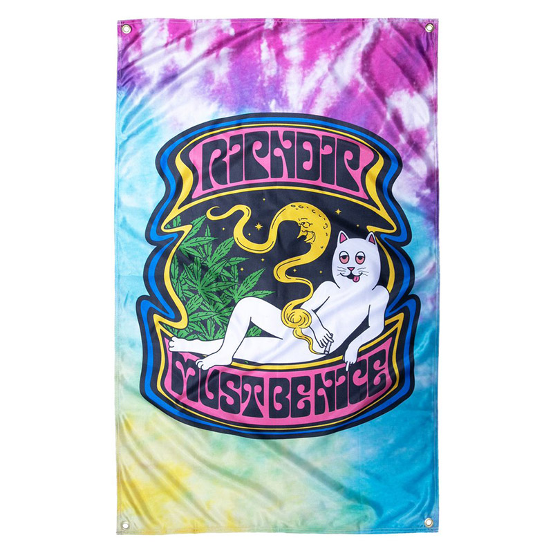 RIPNDIP Moonlight Bliss Wall Banner Tie Dye