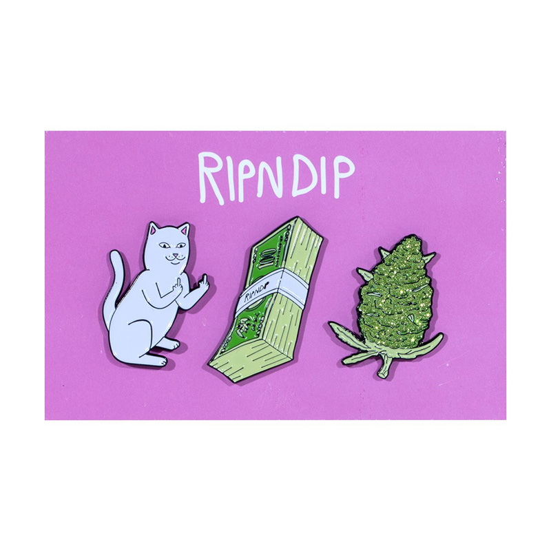 RIPNDIP Pu$$y Money Weed Pin Multi