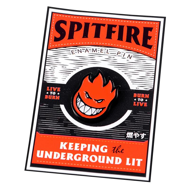Spitfire Bighead Lapel Pin Red