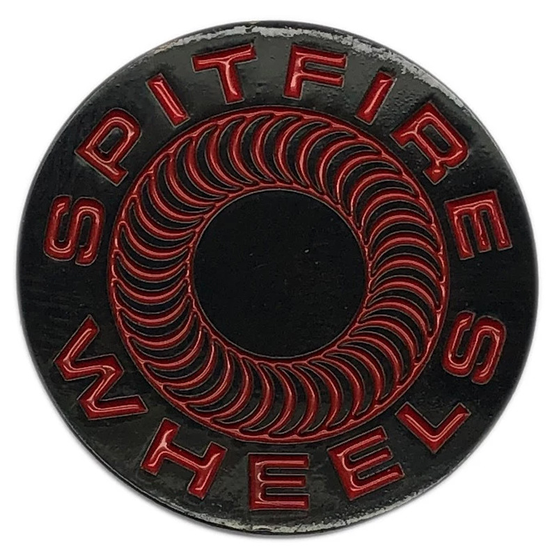 Spitfire Classic 87' Swirl Pin Black/Red