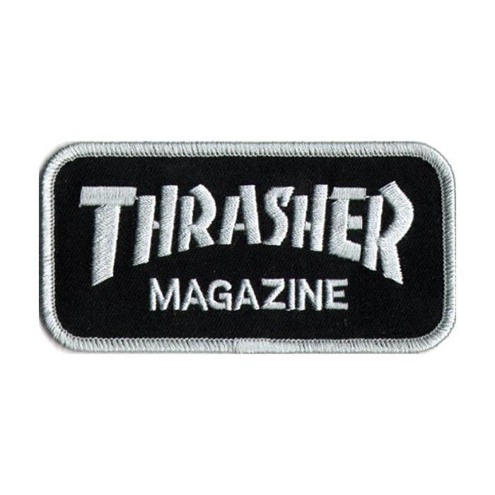 Thrasher Logo Patch Black/Grey