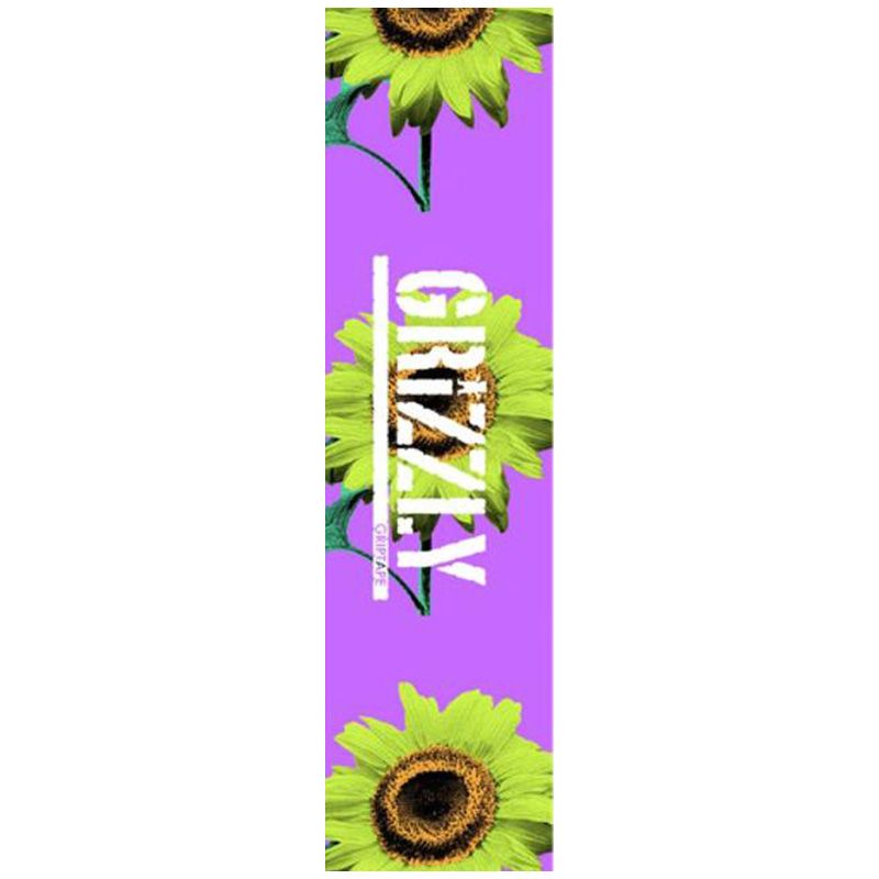 Grizzly Bloom Stamp Griptape Sheet Purple 9.0