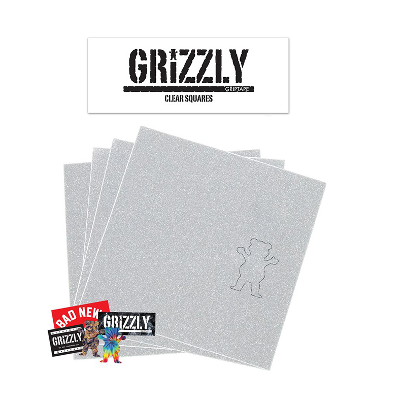 Grizzly Clear Squares Griptape Sheet Clear