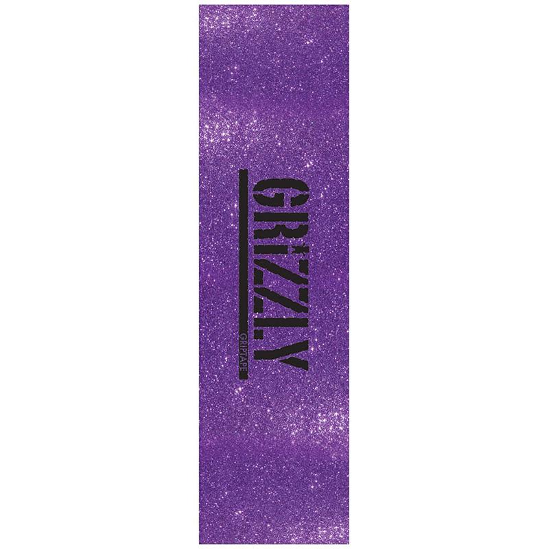 Grizzly Glitter Pack Griptape Sheet Purple