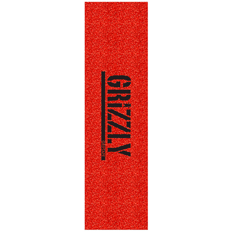 Grizzly Glitter Pack Griptape Sheet Red
