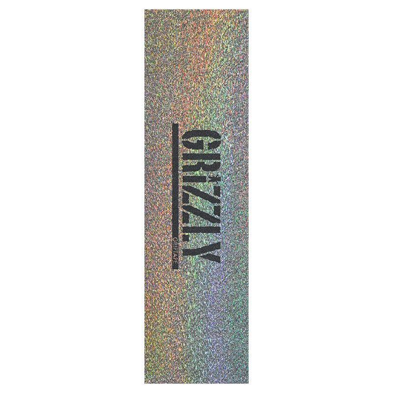 Grizzly Glitter Pack Griptape Sheet Silver