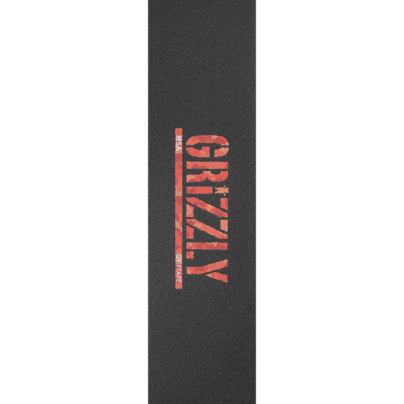 Grizzly Msa Camo Stamp Griptape Sheet Red