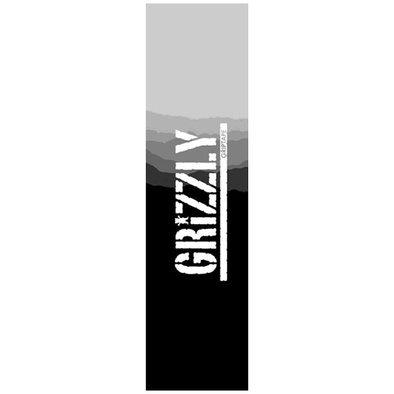 Grizzly Range Stamp Griptape Sheet Black/Gey 9.0