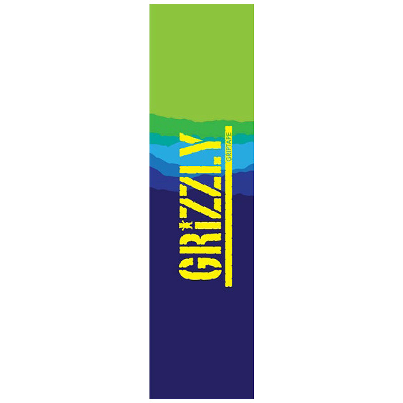 Grizzly Range Stamp Griptape Sheet Purple/Green 9.0
