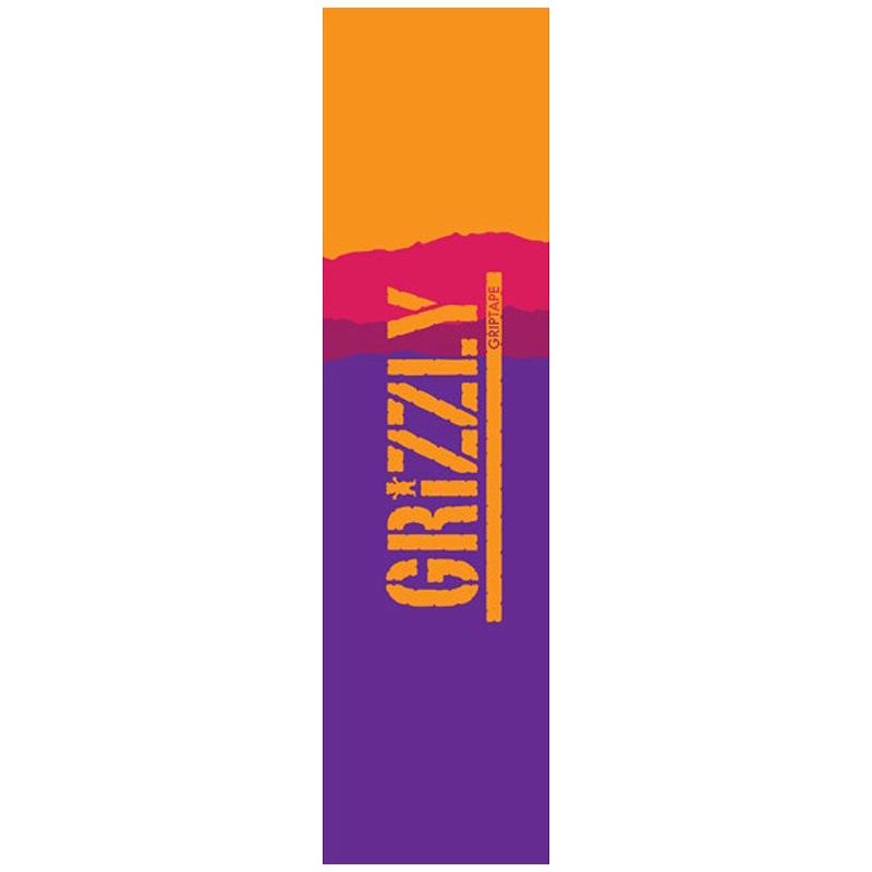 Grizzly Range Stamp Griptape Sheet Purple/Orange 9.0