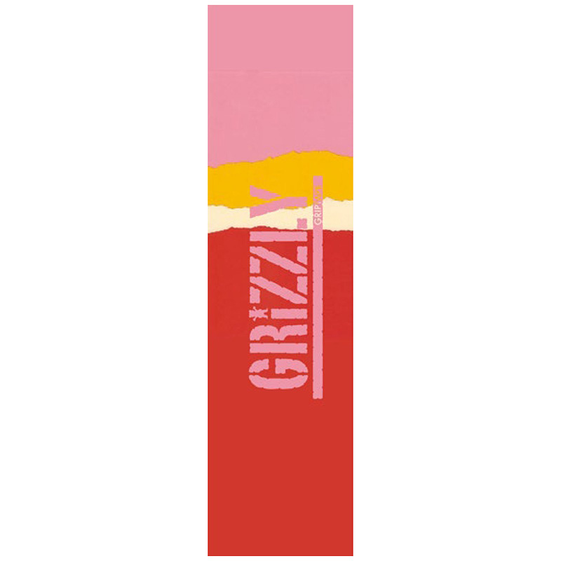 Grizzly Range Stamp Griptape Sheet Red/Pink 9.0