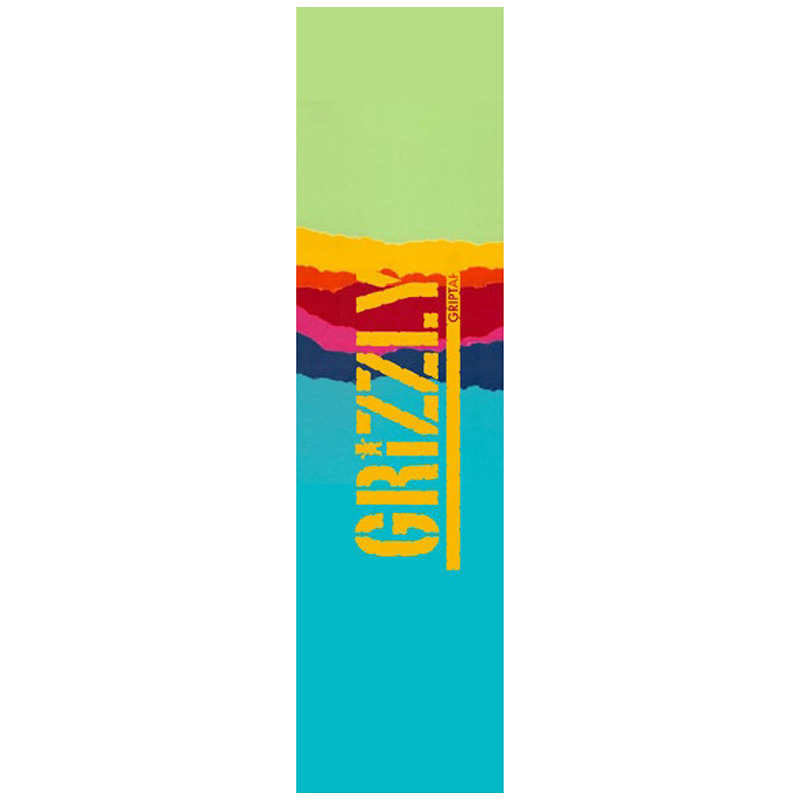 Grizzly Range Stamp Griptape Sheet Turquoise/Green 9.0