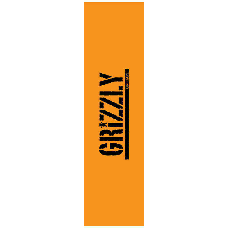 Grizzly Stamped Necessities Griptape Sheet Orange 9.0