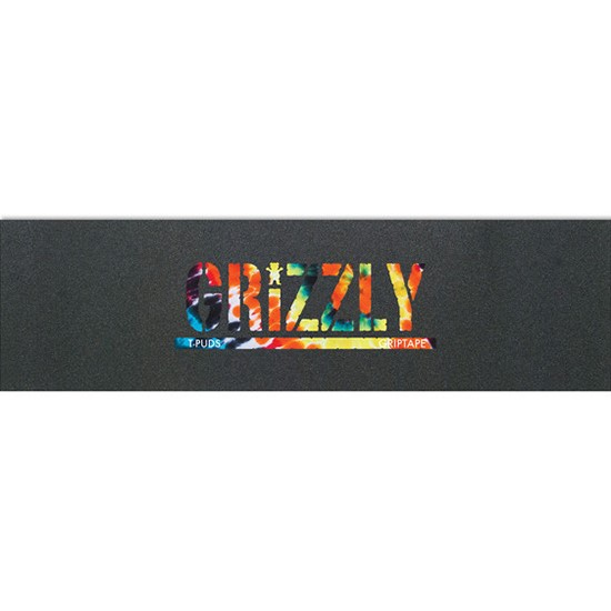Grizzly T-Puds Griptape Orange Tie Dye