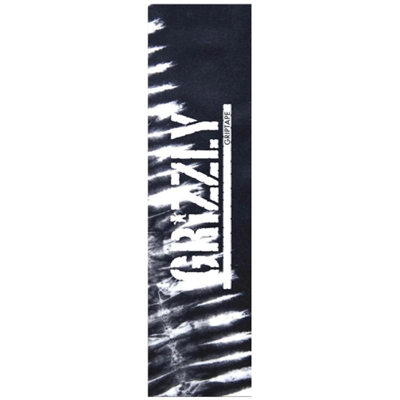 Grizzly Tie Dye Griptape Sheet Black/White 9.0