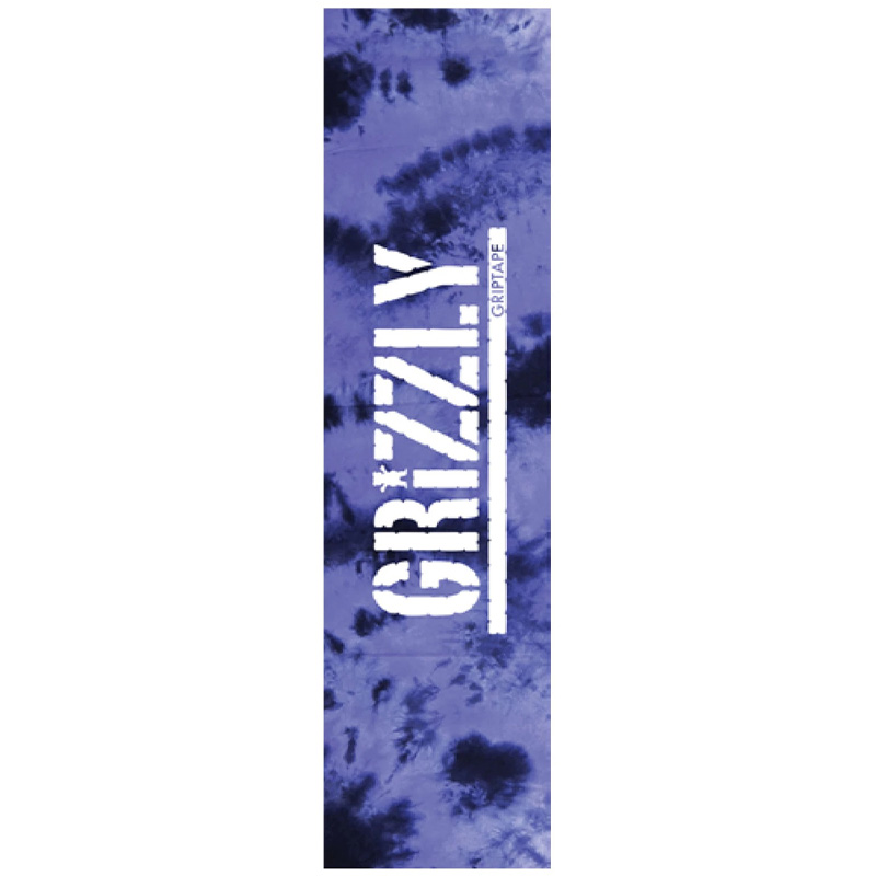Grizzly Tie Dye Griptape Sheet Purple 9.0