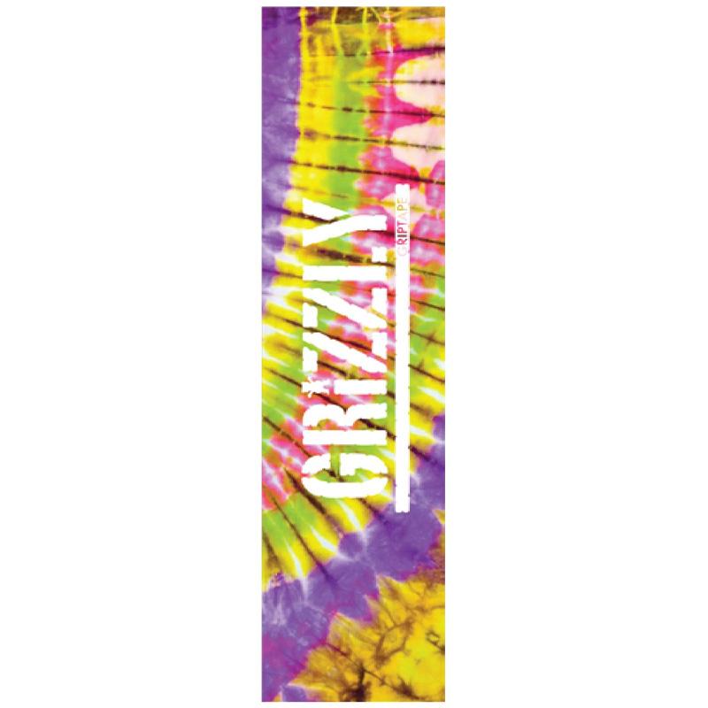 Grizzly Tie Dye Griptape Sheet Purple/Pink/Green 9.0