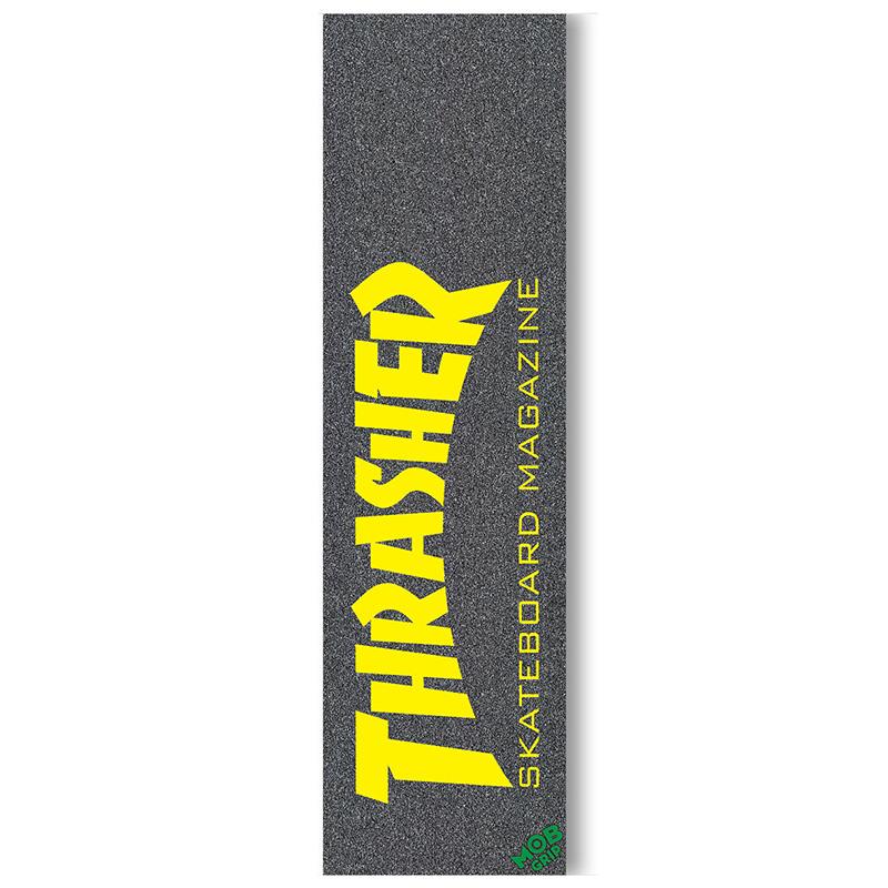 MOB Thrasher Skate Mag Griptape Sheet Yellow 9.0