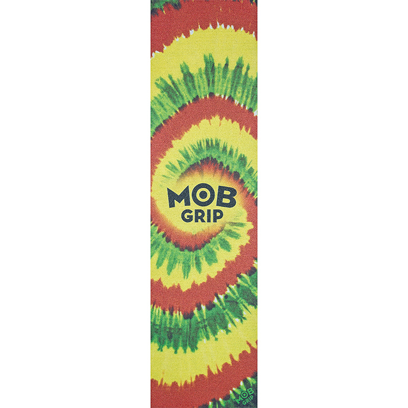 MOB Tie Dye Big Griptape Sheet Rasta 9.0