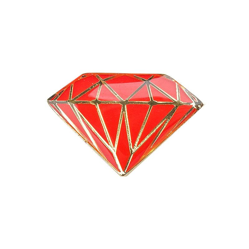 Diamond Metal Brilliant Pin Red