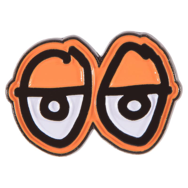 Krooked Eyes Lapel Pin Orange
