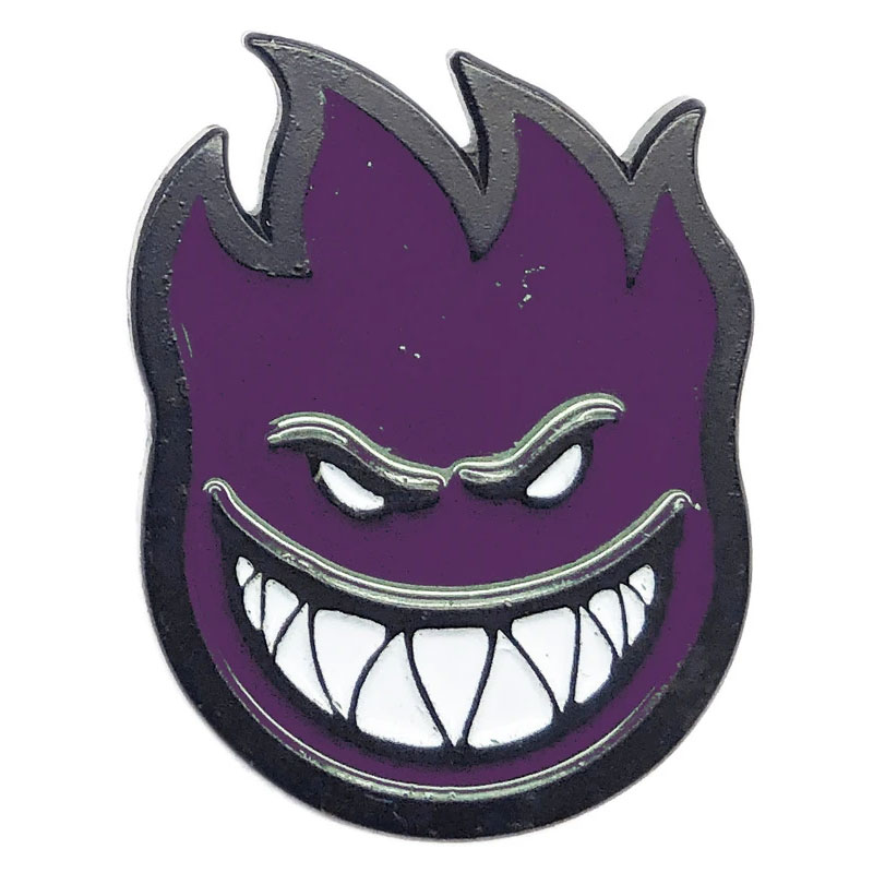 Spitfire Bighead Fill Lapel Pin Black/Purple