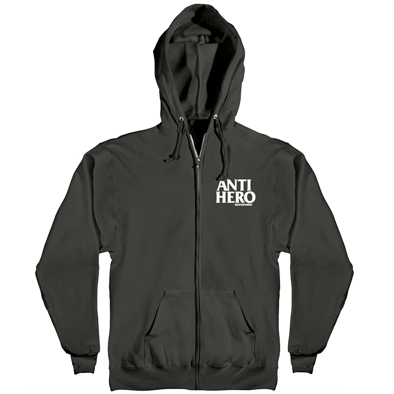 Anti Hero Lil Blackhero Hoodie Black/White